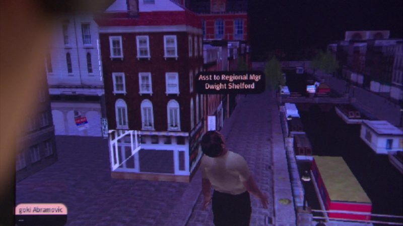 "Second Life Online Video Game in The Office – Season 4, Episode 9, ""Local Ad"" (2007) TV Show"