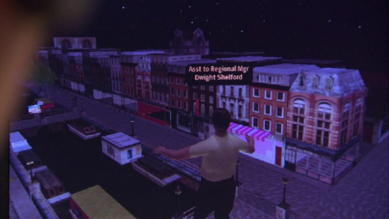 "Second Life Online Video Game in The Office – Season 4, Episode 9, ""Local Ad"" (2007) TV Show Product Placement"