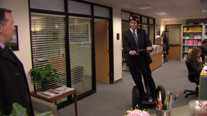 """Segway Self Balancing Transporter Used by Steve Carell (Michael Scott) in The Office – Season 6, Episode 14, """"The Banker"""" (2010) - TV Show Product Placement"""