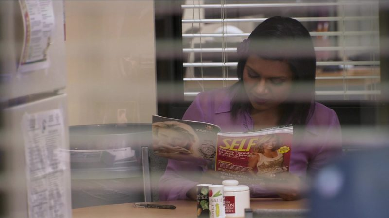 "Self Magazine Held by Mindy Kaling (Kelly Kapoor) in The Office – Season 2, Episode 16, ""Valentine's Day"" (2006) - TV Show Product Placement"
