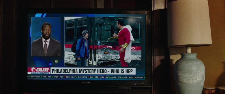 Sharp TV in Shazam! (2019) - Movie Product Placement