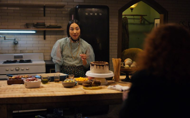 Smeg Black Refrigerator Used by Greta Lee in Russian Doll