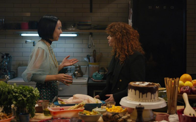 Smeg Refrigerator (Black) in Russian Doll