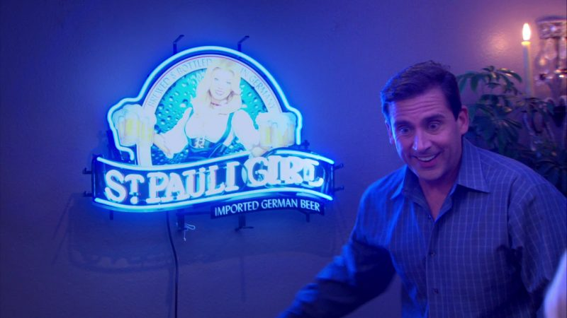 "St. Pauli Girl Beer Sign in The Office – Season 4, Episode 13, ""Dinner Party"" (2008) - TV Show Product Placement"
