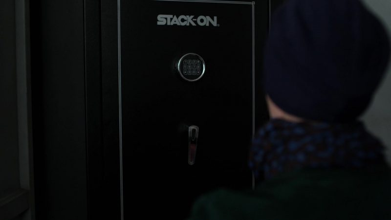 "Stack-On Safe in Jessica Jones - Season 3, Episode 2, ""A.K.A You're Welcome"" (2019) - TV Show Product Placement"
