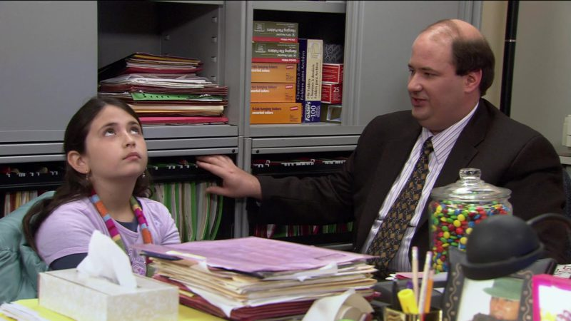 """Staples 5 Tab Hanging Folders in The Office – Season 2, Episode 18, """"Take Your Daughter to Work Day"""" (2006) TV Show"""
