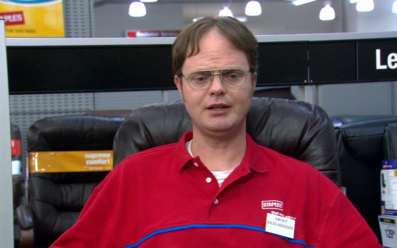 Staples Red Shirt Worn by Rainn Wilson (Dwight Schrute) in The Office (2)