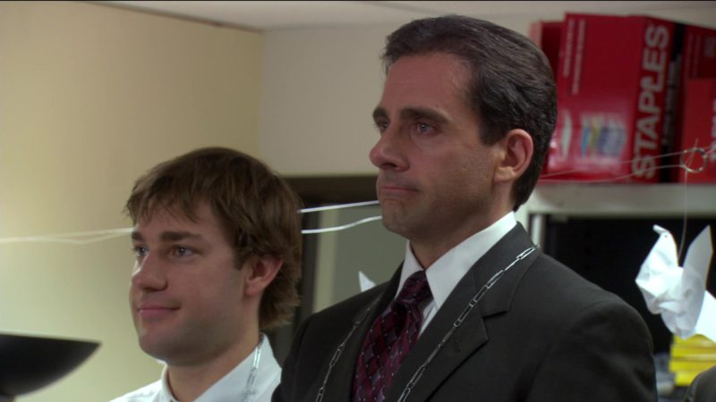 """Staples in The Office – Season 2, Episode 3, """"Office Olympics"""" (2005) - TV Show Product Placement"""