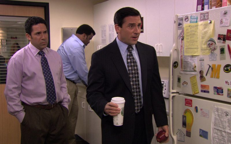 Starbucks Coffee Cup Held by Steve Carell (Michael Scott) in The Office