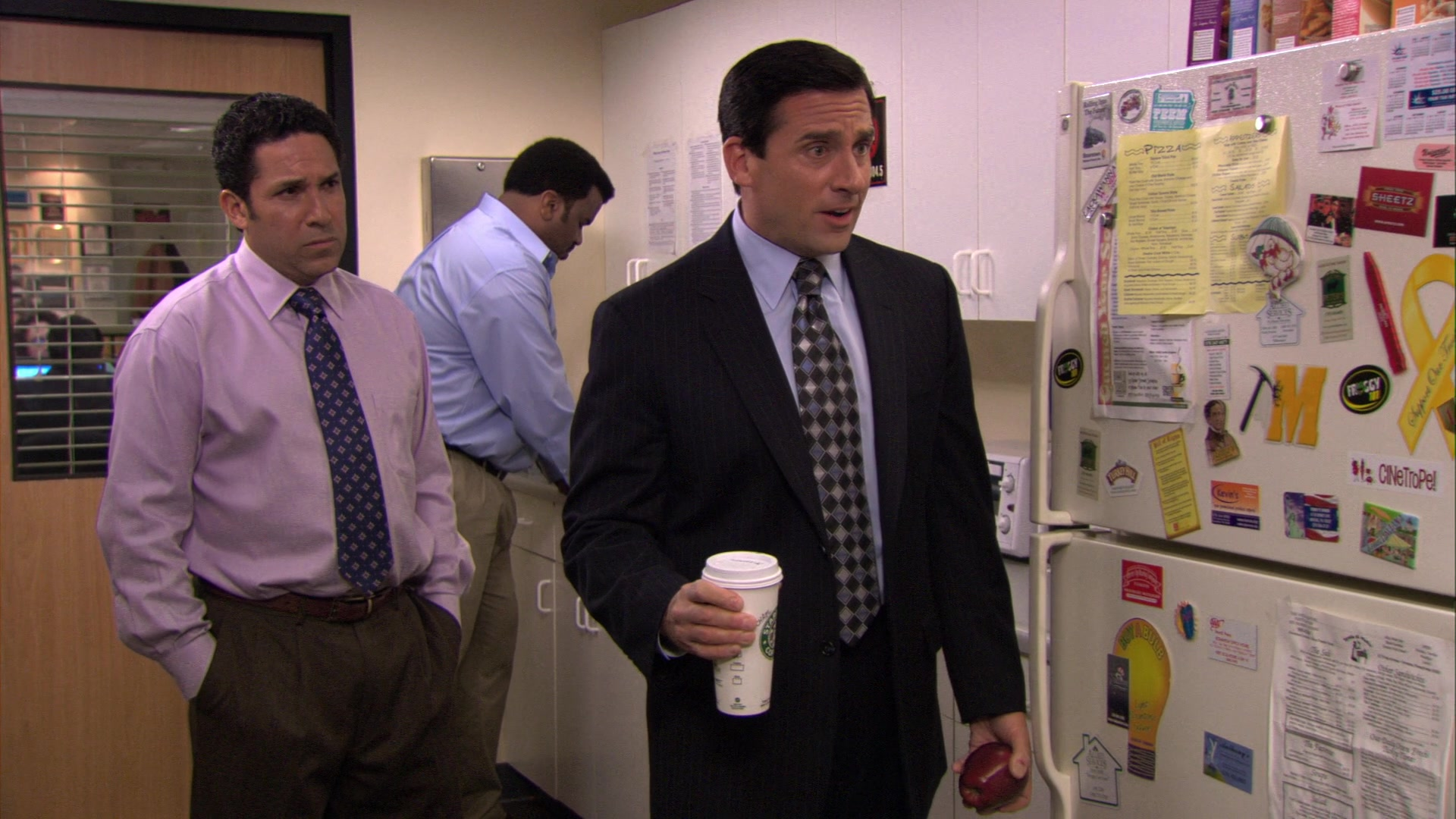 Starbucks Coffee Cup Held by Steve Carell (Michael Scott) in