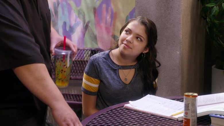 """Sunshine Clementine Twist Drink Enjoyed by Cree Cicchino in Mr. Iglesias - Season 1, Episode 10, """"Academic Decathlon"""" (2019) - TV Show Product Placement"""