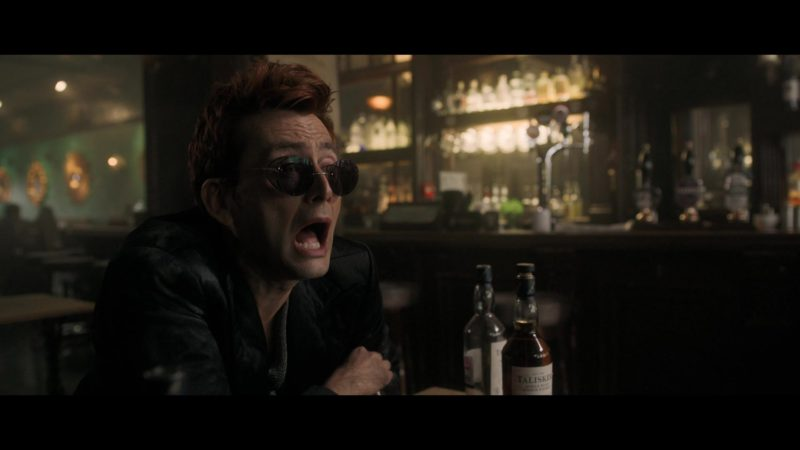 Talisker Whisky in Good Omens - Season 1, Episode 5, The Doomsday Option (2019) - TV Show Product Placement
