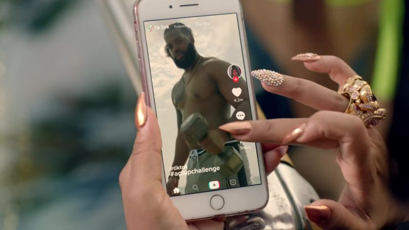 TikTok App in Act Up by City Girls (2019) - Official Music Video Product Placement
