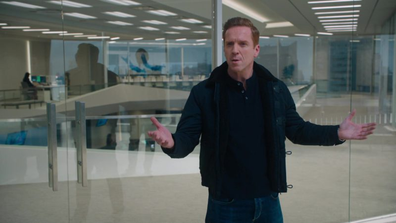 "Tod's Jacket (T-Project Blue Coat) Worn by Damian Lewis (Bobby Axelrod) in Billions – Season 4, Episode 11, ""Lamster"" (2019) - TV Show Product Placement"