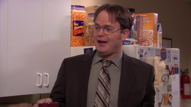 """UTZ Cheese Balls and Wegmans Cereal in The Office – Season 7, Episode 18, """"Todd Packer"""" (2011) TV Show"""