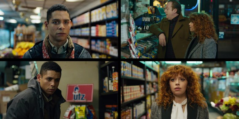 """UTZ Chips in Russian Doll - Season 1, Episode 8, """"Ariadne"""" (2019) - TV Show Product Placement"""
