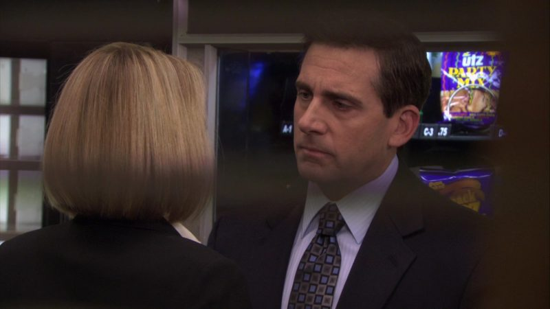"""UTZ Party Mix in The Office – Season 7, Episode 16, """"PDA"""" (2011) - TV Show Product Placement"""