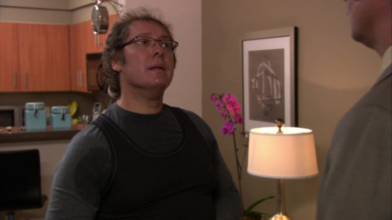 "Under Armour T-Shirt Worn by James Spader (Robert California) in The Office – Season 8, Episode 11, ""Trivia"" (2012) TV Show Product Placement"