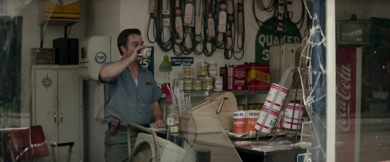 Union 76 Oil, Kendall, Coca-Cola in The Best of Enemies (2019) Movie Product Placement