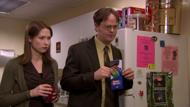 "Utz Pub Mix, Pretzel Rods and Chips and Wegmans Breakfast Cereal in The Office – Season 6, Episode 23, ""Body Language"" (2010) TV Show Product Placement"