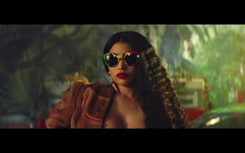 Versace Vogue Print Tribute Sunglasses Worn by Nicki Minaj in Megatron (7)