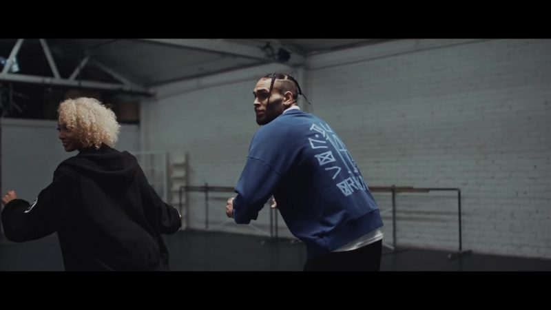 "Von Dutch Blue Sweatshirt Worn by Chris Brown in ""Easy"" (Remix) by DaniLeigh (2019) Official Music Video Product Placement"
