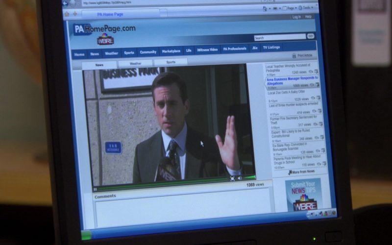 WBRE-TV Channel Website in The Office