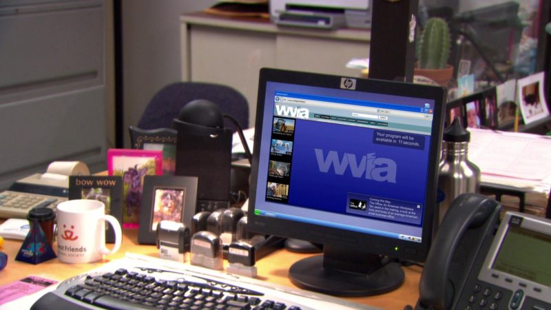 """WVIA in The Office – Season 9, Episode 16, """"Moving On"""" (2013) - TV Show Product Placement"""