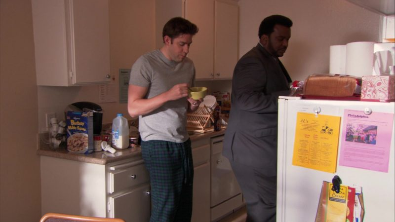 "Wegmans Blueberry Muffin Squares Cereal in The Office – Season 9, Episode 14, ""Vandalism"" (2013) TV Show"