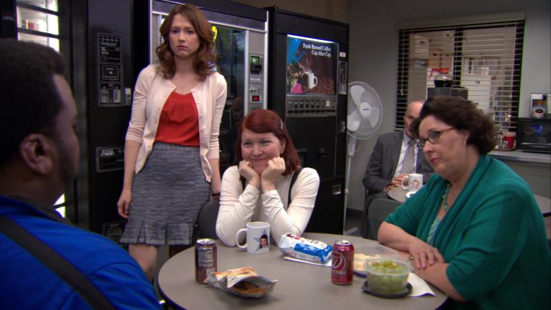 "Wegmans Cola Enjoyed by Phyllis Smith (Phyllis Vance) in The Office – Season 9, Episodes 22-23, ""A.A.R.M."" (2013) - TV Show Product Placement"