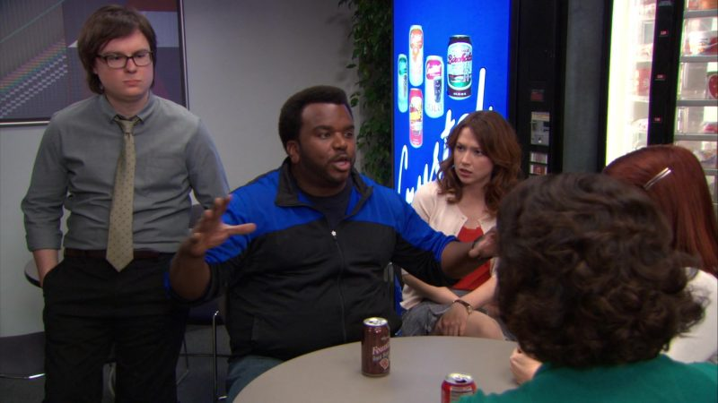 "Wegmans Fountain Root Beer Enjoyed by Craig Robinson (Darryl Philbin) in The Office – Season 9, Episodes 22-23, ""A.A.R.M."" (2013) TV Show Product Placement"