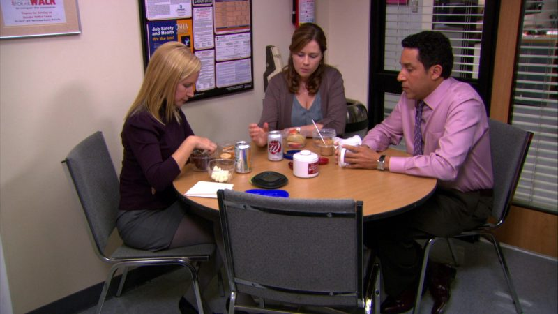 "Wegmans Soda Cans in The Office – Season 8, Episode 16, ""After Hours"" (2012) - TV Show Product Placement"