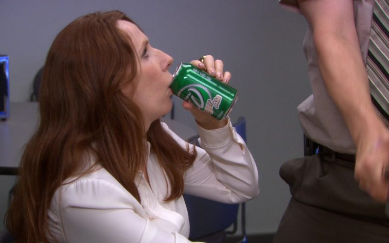Wegmans Soft Drink Can Held by Catherine Tate (Nellie Bertram) in The Office