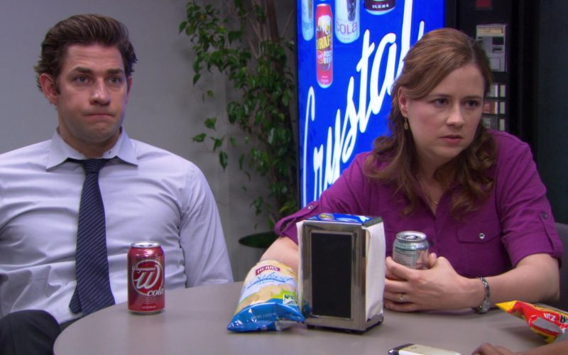 Wegmans W Cola, Herr's Chips and UTZ Enjoyed by John Krasinski (Jim Halpert) & Jenna Fischer (Pam Beesly) (1)