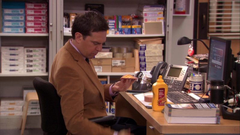 "Wegmans Yellow Mustard in The Office – Season 7, Episode 18, ""Todd Packer"" (2011) - TV Show Product Placement"