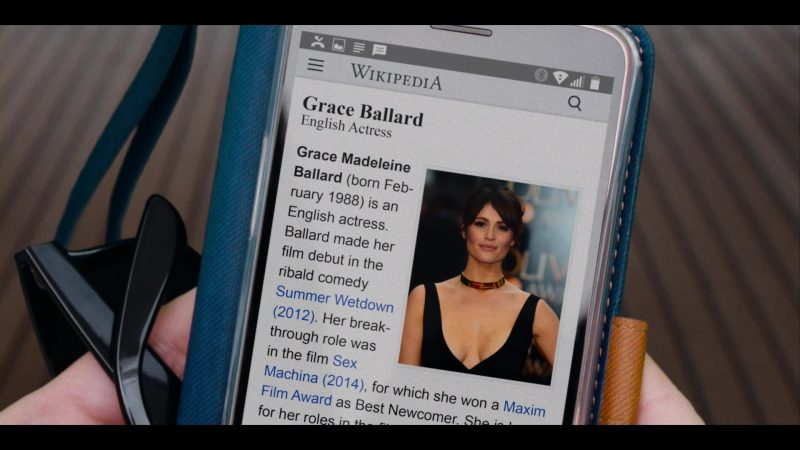 Wikipedia Website in Murder Mystery (2019) - Movie Product Placement