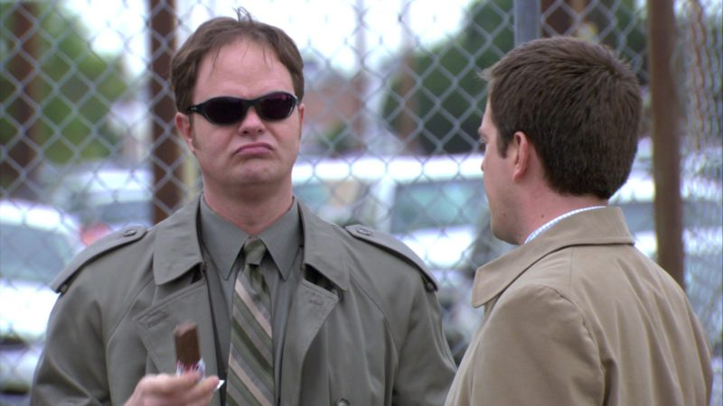 "Wiley X Sunglasses Worn by Rainn Wilson (Dwight Schrute) in The Office – Season 3, Episode 22, ""Women's Appreciation"" (2007) TV Show Product Placement"