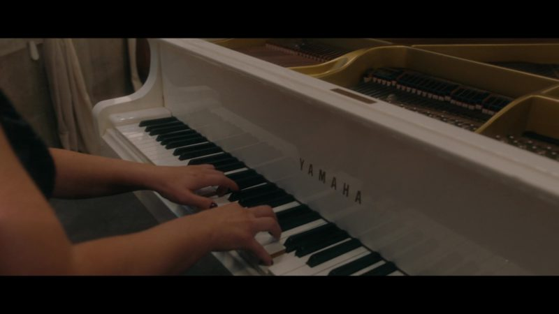 Yamaha White Grand Piano in Good Omens - Season 1, Episode 6, The Very Last Day Of The Rest Of Their Lives (2019) - TV Show Product Placement