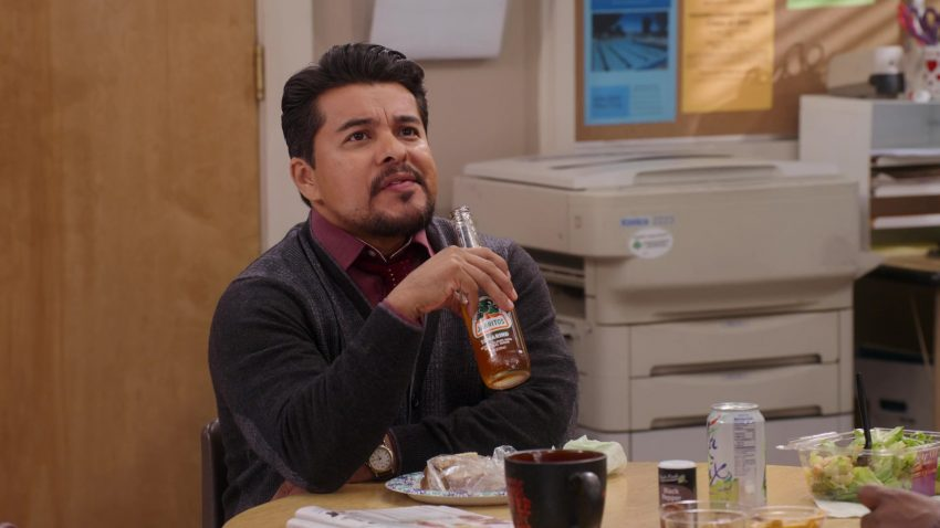 "Jarritos Tamarindo Soft Drink Enjoyed by Jacob Vargas & LaCroix Sparkling Water Enjoyed by Maggie Geha in Mr. Iglesias - Season 1, Episode 5, ""Everybody Hates Gabe"" (2019) - TV Show Product Placement"