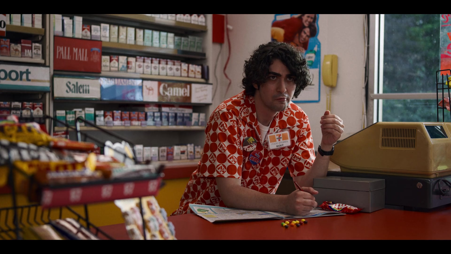 7-Eleven Store Worker and Skittles Candies in Stranger Things