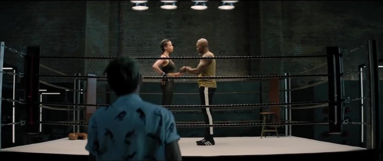 Adidas Boxing Shoes Worn by Djimon Hounsou in Charlie's Angels (2019) - Movie Product Placement