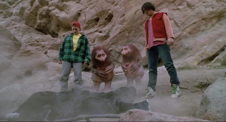 Adidas High Top Sneakers (White) Worn by Keanu Reeves in Bill & Ted's Bogus Journey (1991) - Movie Product Placement