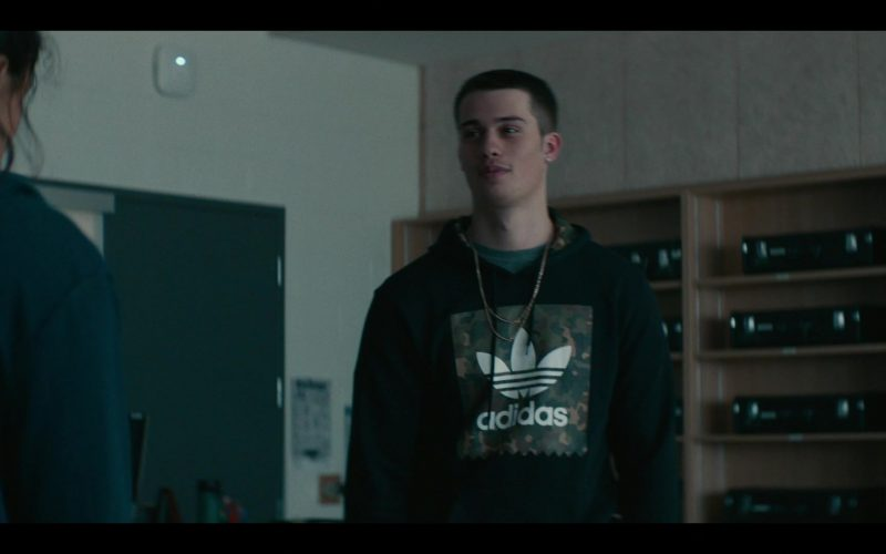 Adidas Men's Black Hoodie Worn by Nicholas Galitzine in Share