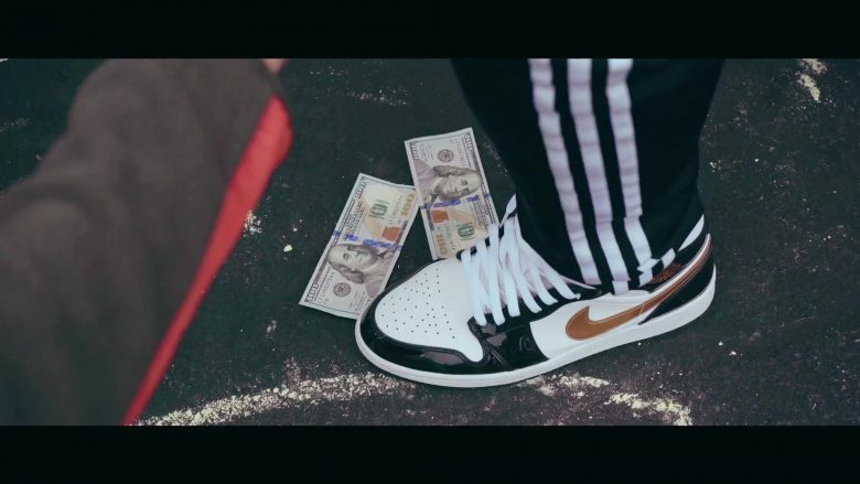 Air Jordan 1 Retro High OG (Black & White and Gold Logo) Sneakers by Nike in My Type by Saweetie (2019) - Official Music Video Product Placement