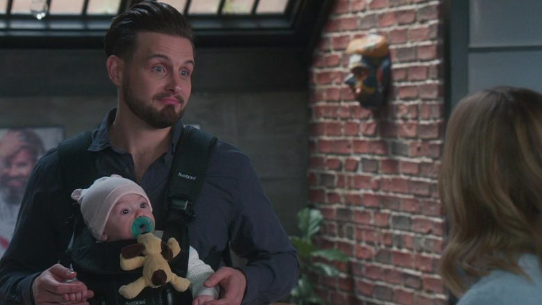 "BabyBjörn Baby Carrier Used by Nico Tortorella in Younger - Season 6, Episode 4, ""An Inside Glob"" (2019) TV Show Product Placement"