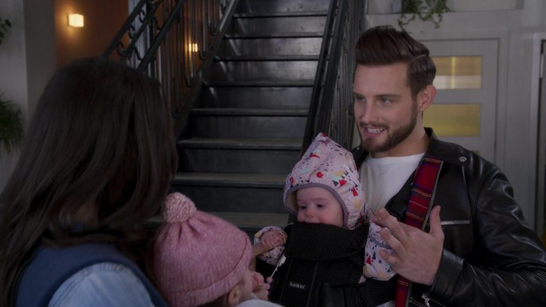 BabyBjörn Black Baby Carrier Used by Nico Tortorella in Younger - Season 6, Episode 5, Stiff Competition (2019) - TV Show Product Placement