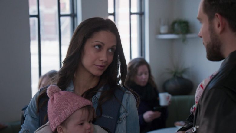 BabyBjörn Blue Baby Carrier in Younger - Season 6, Episode 5, Stiff Competition (2019) - TV Show Product Placement