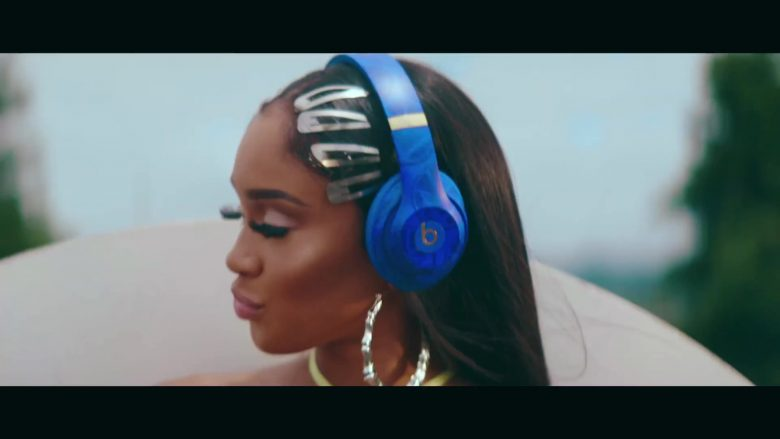Beats Blue Headphones Used by Saweetie in My Type (2019) - Official Music Video Product Placement