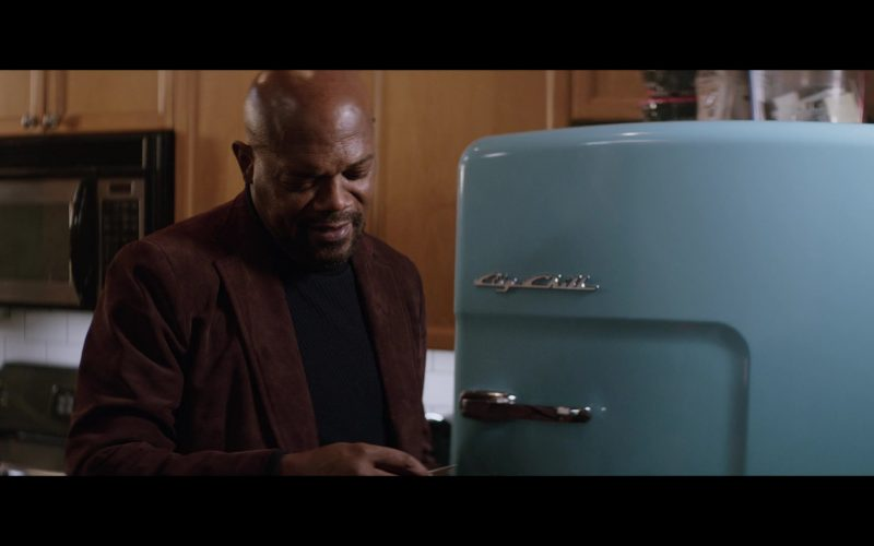 Big Chill Blue Retro-Styled Refrigerator Used by Samuel L. Jackson in Shaft (1)