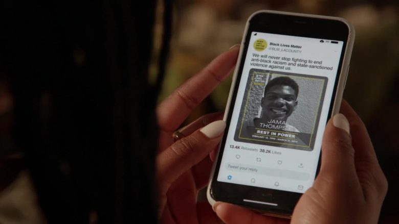 Black Lives Matter in Good Trouble - Season 2, Episode 7, In the Middle (2019) - TV Show Product Placement